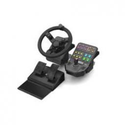 Volante logitech farm sim -  pedales -  panel de control - Imagen 1