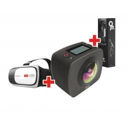 Kit camara 360 gigabyte 360 jolt duo +gafas vr+kit accesorios - Imagen 1