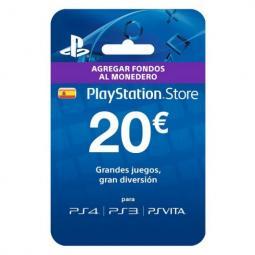 Tarjeta prepago monedero sony playstation live card 20 euros  ps4 - ps3 - psp - ps vita - Imagen 1