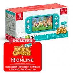 Consola nintendo switch lite turquesa + animal crossing new horizons + 3 meses nintendo switch online - Imagen 1