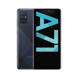 Telefono movil smartphone samsung galaxy a71 a715 6.7pulgadas - 128gb rom - 6gb ram - 64+5+12+5 mp - lector de huella - ds negro