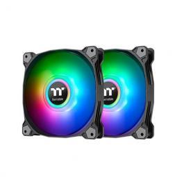 Ventilador 120x120 thermaltake pure duo 12 argb 2uds neg pack 2 unds - vent 120x120mm argb -  1500 rpm - Imagen 1