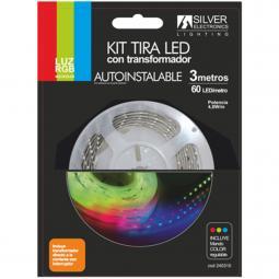 Kit tira led silver electronics 540 lm - m -  3m -  12v -  7.2w - m -  rgb - Imagen 1