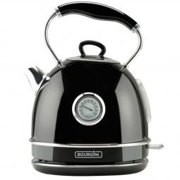 Termo calentador de agua bourgini nostalgic thermo kettle negro 1.7l - Imagen 1