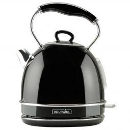 Hervidor de agua bourgini nostalgic water kettle del negro 1.7l - Imagen 1