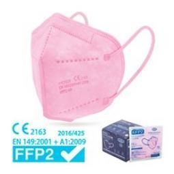 Mascarilla ffp2 epi nr ce caja 25 unidades blister individual color rosa - Imagen 1
