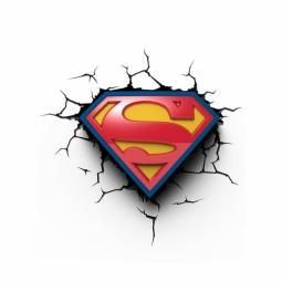 Lampara led 3d light fx superman logo 3d luz de pared - Imagen 1